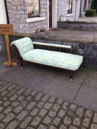 Chaise after re-hab - made by C F Williams - circa 1880 - Professionally recovered £450