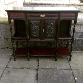 Dark wood sideboard £195