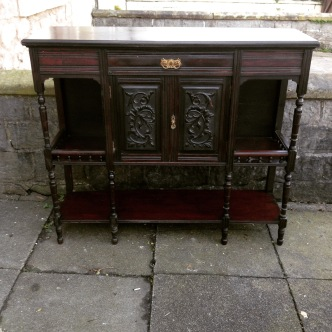Dark wood sideboard £195