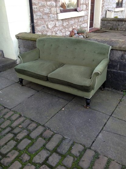 Another angle for the Gillow settee - its been recovered in the fairly recently but could be redone in any fabric to order £650 as is