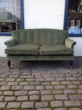 Gillows two seater made in 1877 - numbered and makers name on the back leg - stunning £650