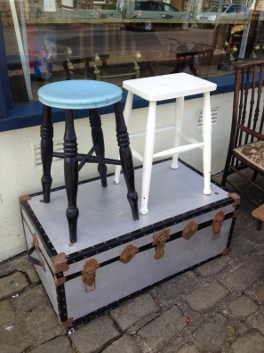 anitque painted stools