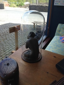 antique tall bell jar - £150