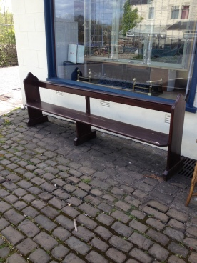 reclaimed church pew from Hurst Green - £70
