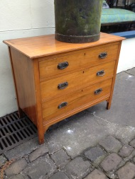 cracked top chest -arts and crafts handles £50