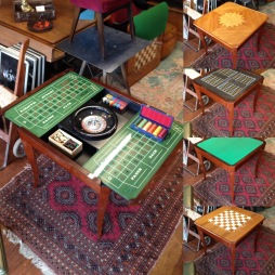 Italian games table - craps, roulette, poker, chess - stunning £500