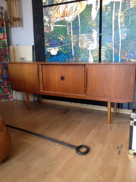 one of two long john sideboards - doors slide £160