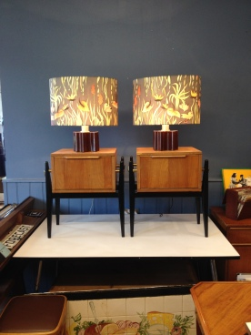 hand painted silk shades circa 1978 - now sold