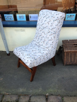 re-upholstered 950's chair £90
