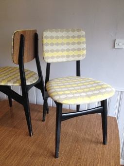 super 1950's dining set - recently recovered - killer mid century looks and design
