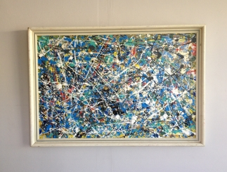 Action painting 1 - now sold - mixed media on board by James Gilbraith