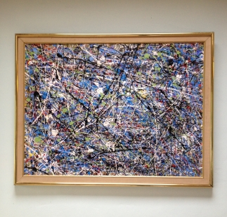 Action painting 2 - now sold - mixed media on canvas by James Gilbraith