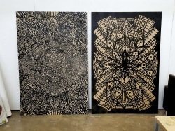 original hand cut and machine cut blocks - incredible and very large - in stock £900 the pair -