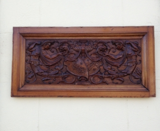 Great hand carved antique panel - £65