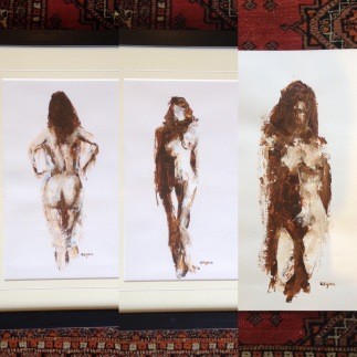 already sold - three nudes by Terry Kelly