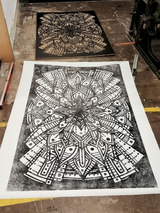 100's of hours went into these wood cut prints £300 each original 1/1