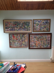 Four way action mixed media action painting - I will sell separately - By James Gilbraith