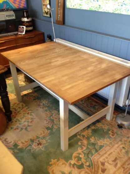 Ikea - not my favourite place - but this table is really functional and will extend to seat at least six - £85