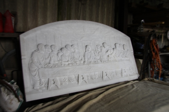 So unreal Cararra marble frieze of the last supper
