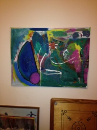 Large acrylic abstract - now sold By James Gilbraith