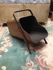 mid century bent wood coal scuttle
