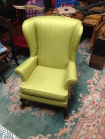 Spring green herringbone - 1960 Parker Knoll FULLY refurbished £350 - Bargain ! SOLD