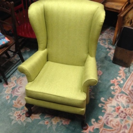 SOLD Spring green herringbone - 1960 Parker Knoll FULLY refurbished £350 - Bargain ! SOLD
