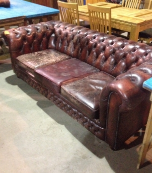 This settee is currently having a couple of repairs done that will add to its character - the seat cushions are having some new foam then it will be in our showroom - we have another from the 1960's that's fully sprung currently being finished in grey velvet