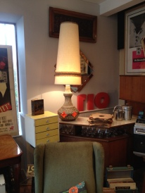 Pat tested and rewired - this lamp has a lovely warm glow £190