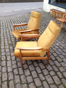 Guy Rogers - Manhattan Recliners - original fabric - £500 as is or £700 with your choice of fabric SOLD