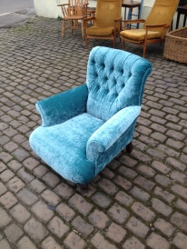 1880 chair - reupholstered - stunning £850