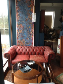 Lovely beaten chesterfield two seater £140