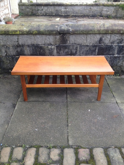 teak 70's coffee table £40