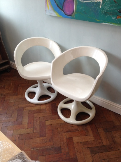Unkown chairs - possibly from a space ship ? SOLD