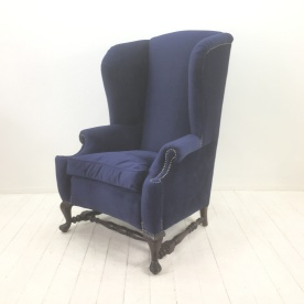 Reupholstered wingback £900