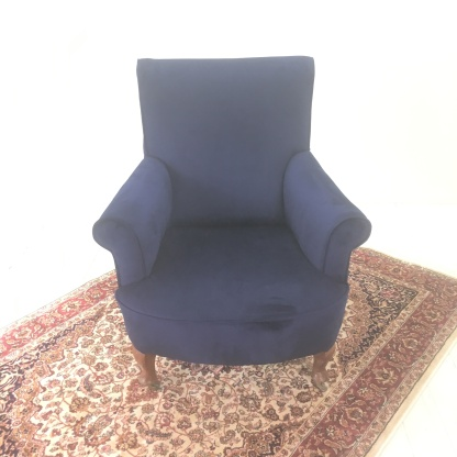 Reupholstered armchair £470