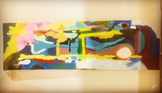 1m x 3m large abstract oil on sail cloth